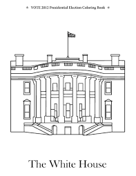 Coloring Download: The White House Coloring Page White House ...