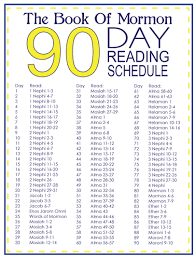 40 Day Book Of Mormon Reading Chart Book Of Mormon Challenge Paralowie Lds Youth