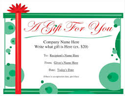 Gift Card Samples Free Gift Certificate Template For Pages 24 Infantry 14
