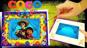 new disney pixar coco make your own picture frame kit paint and decorate