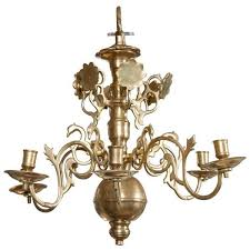 17th century proper period dutch brass chandelier