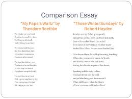 ap english literature and composition ppt video online  comparison essay my papa s waltz by theodore roethke