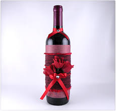 How To Decorate A Bottle Of Wine Decorated Wine Bottle Gina Tepper 18