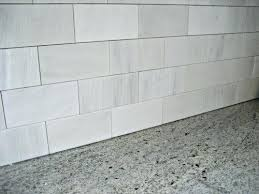 modern style white marble subway tile with carrara canada