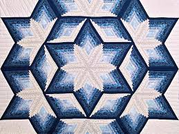 Diamond Star Quilt -- great carefully made Amish Quilts from ... & ... Blue and Cream Diamond Star Log Cabin Quilt Photo 3 ... Adamdwight.com