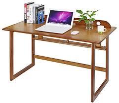 Office desk in living room Studio Apartment Design Bamboo Modern Computer Desk Writing Study Table For Home Office Living Room Amazoncom Amazoncom Bamboo Modern Computer Desk Writing Study Table For Home
