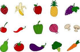 fruits and vegetables clip art. Delighful Art For Fruits And Vegetables Clip Art