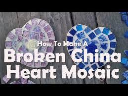 broken china heart mosaic you