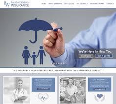 startling designs insurance agent website