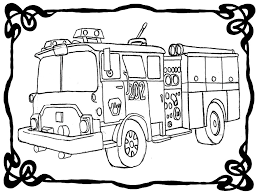 Coloring Page Fire Truck. Excellent Fireman Sam Checking Fire ...