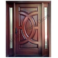 solid wood doors habib panel main door design diyar with frame metal new single steel front entry custom exterior designs home house external oak simple