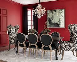 black white dining room design