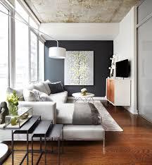 Modern Condo Living Room Design Contemporary Condo Living Room With Gray Sofa Geometric Area
