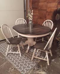 Painted Round Kitchen Table Farmhouse Table Makeover With Homeright Sprayer Dining Sets