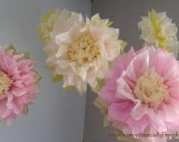 tissue paper flower centerpiece ideas tissue paper pom pom etsy