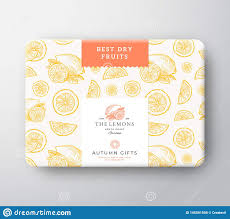 Fruit Box Packaging Design Dried Fruits Citrus Cardboard Box Abstract Vector Wrapped