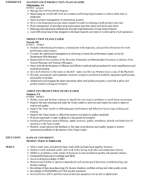 Awesome Resume Sample For Warehouse Team Leader Images