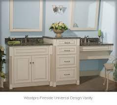 bathroom vanities. woodpro fireside universal design vanity ensemble bathroom vanities