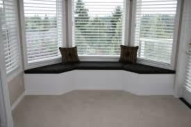 window seat furniture. Furniture. Black Fabric Window Seat Added By Dark Brown Striped Cushions And White Horizontal Furniture
