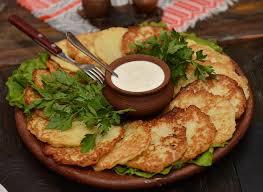 Национальная кухня Беларуси Западный Тракт Дранники со сметаной