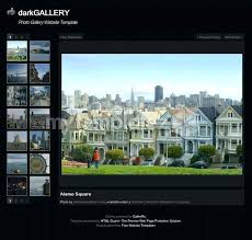 Photo Gallery Website Template Free Templates Simple
