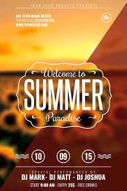 Free Summer Party Flyer Template Download Freebie Flyer