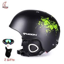 moon skiing helmet autumn winter men children snowboard skateboard skiing equipment sports safety ski helmets with gifts