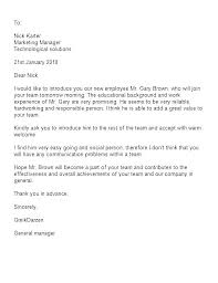 New Employee Welcome Letter Introduction To Company Templates