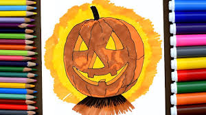 pumpkin coloring pages how to draw jack o lantern coloring book and learn colors for kid