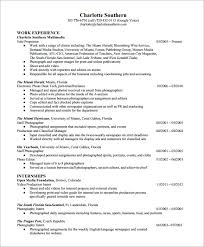 photographer resume pdf