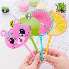 <b>4Pcs set</b> Cute Cartoon Fan Ballpoint Pen Kawaii Novelty Animal ...