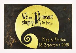 There are 2243 jack sally wall art for sale on etsy, and they cost $12.79 on average. Nightmare Before Christmas Wedding Gift Valentine S Personalized Jack And Sally Wall Art Capture Your Special Day In A Unique Way On Brass Or Copper Made For Love With Love Steampunk Web