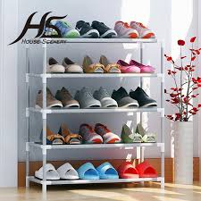shoe furniture. house scenery living room furniture portable shoe racks folding multilayer nonwoven fabric combination dustproof