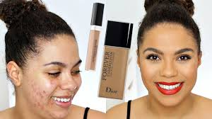 dior undercover foundation review oily skin acne samantha jane