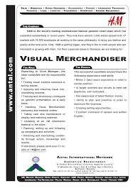 Example Resume Sample Cover Letter Visual Merchandiser Merchandiser