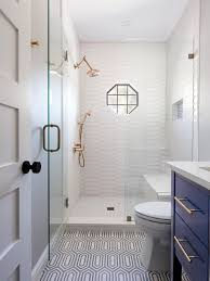 bathroom remodel small. Inspiration For A Small Transitional 3/4 White Tile And Porcelain Multicolored Floor Bathroom Remodel