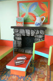 homemade doll furniture. Doll House FurnitureLove The Fireplace! Homemade Furniture A