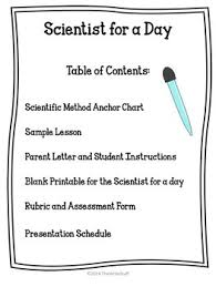 Scientific Method Scientist For A Day