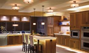 Charming ... Kitchen Drum Shade Semi Flush Mount Ceiling Lighting And Double Pendant  Lights Over Built In ... Design Inspirations