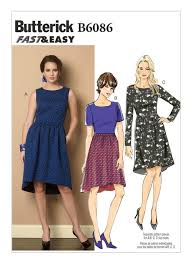 Mcalls Patterns Enchanting B48 Misses' HighLow Hem Dresses Sewing Pattern Butterick Patterns