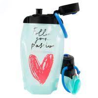Складная <b>бутылка для воды</b> и напитков Heart <b>Blue</b> 500ml