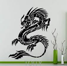 Us 16 99 Orient Dragon Wall Sticker Mythology Vinyl Decal Chinese Style Long Home Interior Design Art Murals Living Room Decor In Wall Stickers From