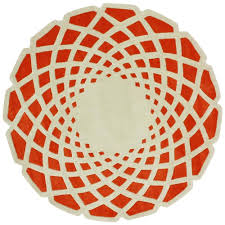 nuloom lumi orange 6 ft x 6 ft round area rug