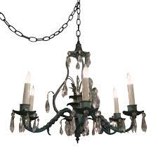1930s italian wrought iron crystal chandelier chandeliers