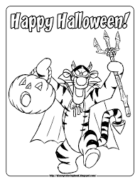 Pooh and Friends Halloween 1 : Free Disney Halloween Coloring ...