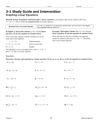 study guide and intervention writing linear equations 2 4