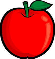 green and red apples clipart. this is an image of a bright red apple. it has green stem. and apples clipart