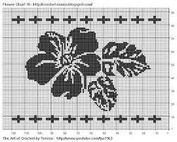 Free Filet Crochet Charts And Patterns Filet Crochet Flower