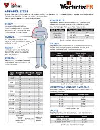 Bulwark Fr Coverall Sizing Chart Workrite Fr Coveralls Size Chart Best Picture Of Chart
