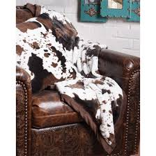Cowhide Throw Blanket